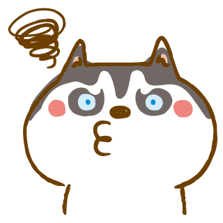 Scary Siberian Dog Stickers for iMessage messages sticker-4