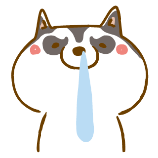 Scary Siberian Dog Stickers for iMessage messages sticker-11