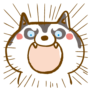 Scary Siberian Dog Stickers for iMessage messages sticker-1