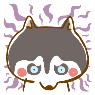 Scary Siberian Dog Stickers for iMessage messages sticker-6