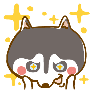Scary Siberian Dog Stickers for iMessage messages sticker-9
