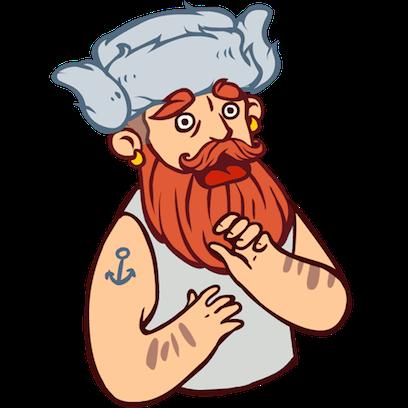 Bearded Man messages sticker-5
