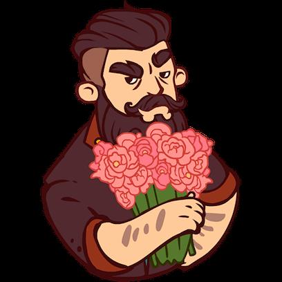 Bearded Man messages sticker-3