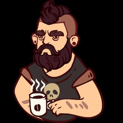 Bearded Man messages sticker-1