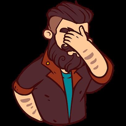 Bearded Man messages sticker-4