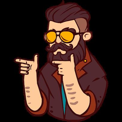 Bearded Man messages sticker-7