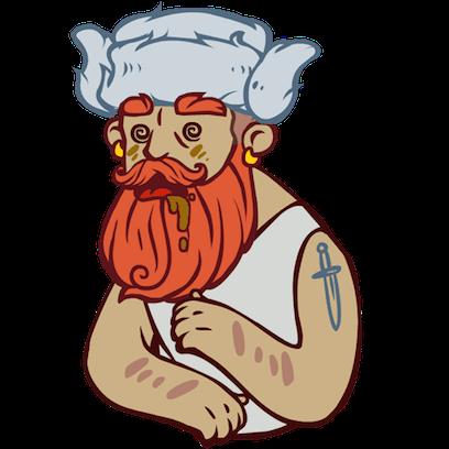 Bearded Man messages sticker-2