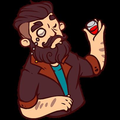 Bearded Man messages sticker-0
