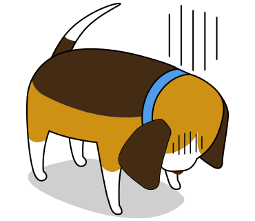 Beagle sticker.Dog Stickers for iMessage messages sticker-3