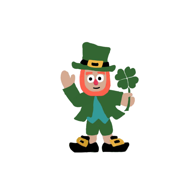 Five Little Leprechauns St. Patrick's Day Stickers messages sticker-1