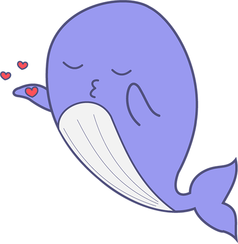 Whale - Cute stickers messages sticker-7