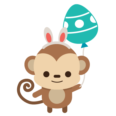 Easter Bunny versus Sticker Pack messages sticker-8