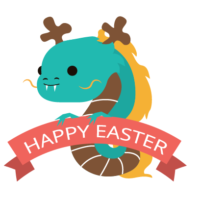 Easter Bunny versus Sticker Pack messages sticker-6