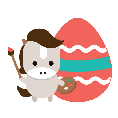 Easter Bunny versus Sticker Pack messages sticker-7