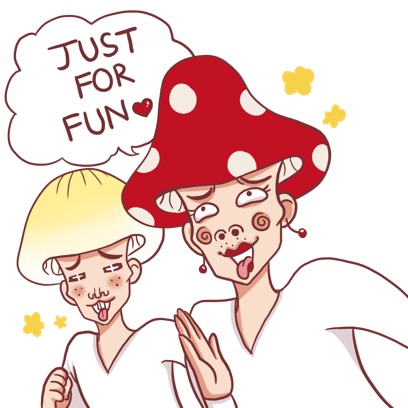 Mushroom Bros stickers messages sticker-1
