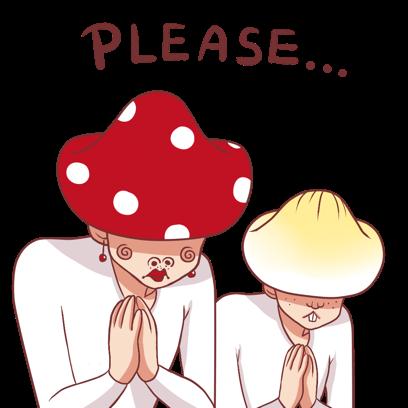 Mushroom Bros stickers messages sticker-11