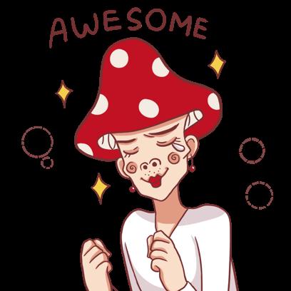Mushroom Bros stickers messages sticker-2