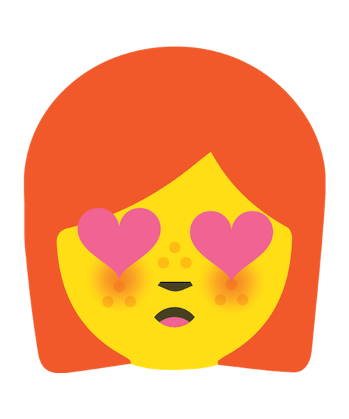 Redhead Emoji Stickers messages sticker-5