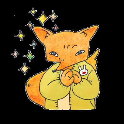 Fox Mori Stickers messages sticker-0