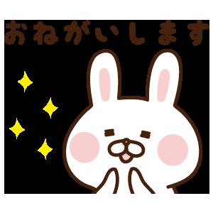 出っ歯うさぎステッカー messages sticker-3