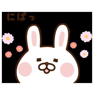 出っ歯うさぎステッカー messages sticker-4