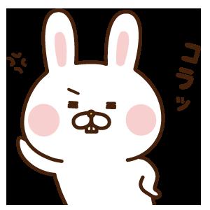 出っ歯うさぎステッカー messages sticker-8