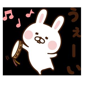 出っ歯うさぎステッカー messages sticker-2