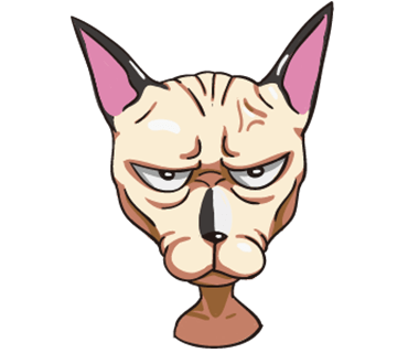 Tiger the Sphynx Cat. Stickers by Design73 messages sticker-7