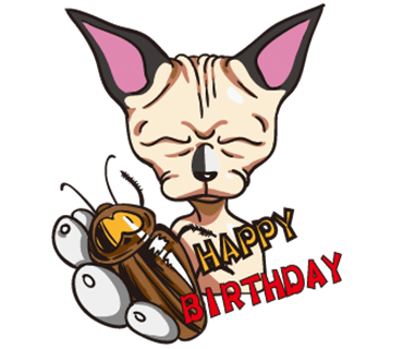 Tiger the Sphynx Cat. Stickers by Design73 messages sticker-5