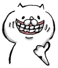 White Cat Stickers 1 messages sticker-9