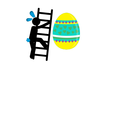 Animated Easter Stickmen messages sticker-7