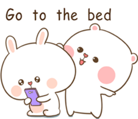 Fluffy Bear and Rabbit messages sticker-2