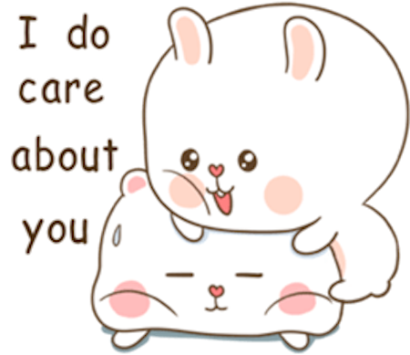 Fluffy Bear and Rabbit messages sticker-3