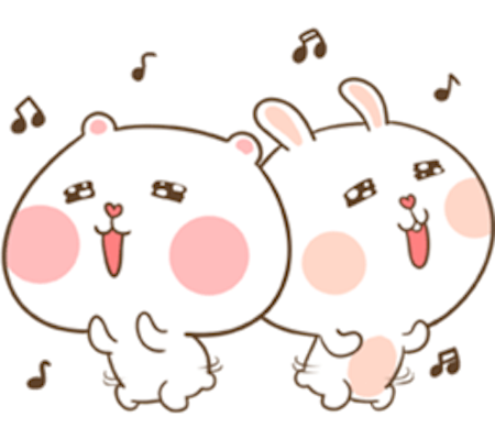 Fluffy Bear and Rabbit messages sticker-1