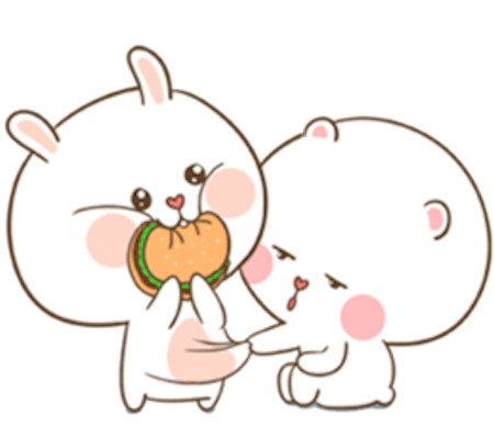 Fluffy Bear and Rabbit messages sticker-4