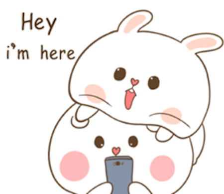 Fluffy Bear and Rabbit messages sticker-10