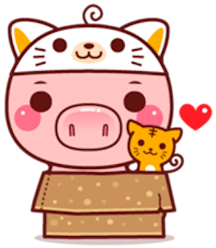 Pig Baby 3 messages sticker-8