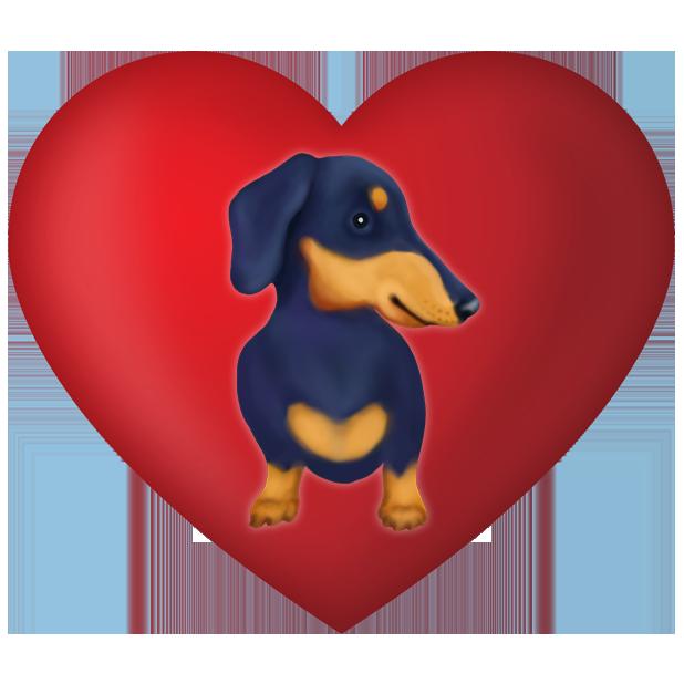 DachsMoji - Dachshund Emoji messages sticker-6