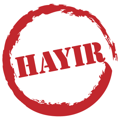 EvetHayır Stickers messages sticker-1