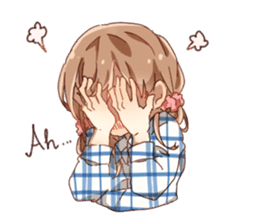 Cute Girl Stickers Pack messages sticker-4