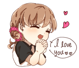 Cute Girl Stickers Pack messages sticker-5