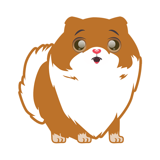 Pom Pom Pomeranian Stickers messages sticker-3