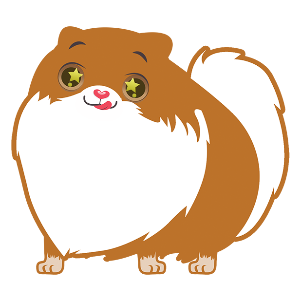 Pom Pom Pomeranian Stickers messages sticker-0