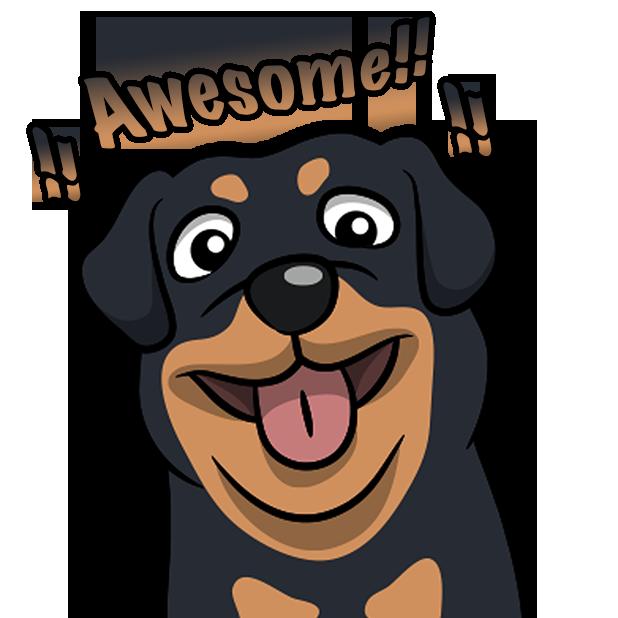 Rottwemoji - Rottweiler Emoji & Stickers messages sticker-11