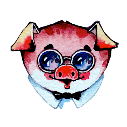 Watercolor Piggies messages sticker-6