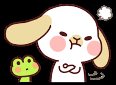 Kiki Dog Lovely 3 messages sticker-1