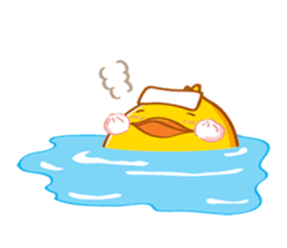 Fat Funny Duck messages sticker-1