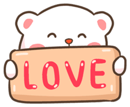 Lovely Bear and Rabbit messages sticker-0