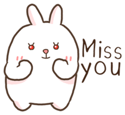 Lovely Bear and Rabbit messages sticker-8
