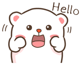 Lovely Bear and Rabbit messages sticker-11